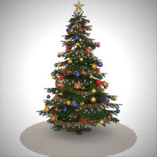 Miniature Glass Christmas Tree With Ornaments Bh Noble Fir