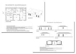 plan maison en u dossier complet plan coupe facades maison d