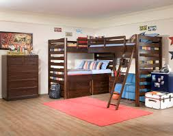 Dazzling triple bunk beds in Traditional boy brown dorm girl