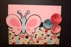 I Ran The Butterfly Through Cuttlebug Used Pink Paislee Patterned Paper And Bazzill Smoothie Cardstock