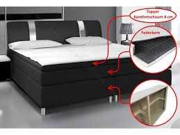 hochglanz schlafzimmer set mit boxspringbett rivabox