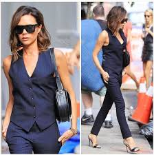 Victoria Beckham Style Work Outfits Icons Spice Girls Fashion Minimalist Merry Classy Overall Dress