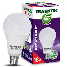 transtec green led bulb cool day light pin type 18w