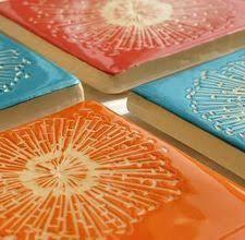 colorful ceramic stools decor ceramic