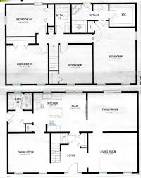 Simple Pole Barn House Floor Plans by Simple 2 Story Rectangular House Plans Home Deco Plans