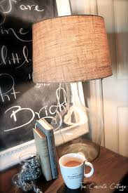 The Concrete Cottage: Glass Bottle Lamp ~ DIY Pottery Barn Knock Off Desk Lamp Pottery Barn Lamps Awful Image Concept At Antique Mercury Glass Table Bedside Au Floor Flooring Photos Illuminate Your Dwelling In Warmth And Style With Barn Home Office With Sale Girlypc Com And 2 Chelsea Modern Kids Trendy L Franconiaski Arthur Sectional Pottery Desk Lamps Pictures About Singular
