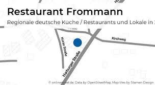 restaurant frommann harburger straße in buchholz in der
