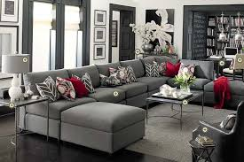 living room living room ideas grey and red innovative grey leather