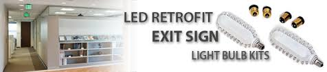 led exit sign retrofit kits bulbs at wholesale prices superior