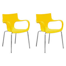 Mod Made Phin Plastic Yellow Modern Dining Side Chair (Set Of 2)-MM ... White Ultra Modern Ding Table Wtwo Pedestal Legs Glass Top Classic Chair Room Ideas Chair Chairs Set Of 2 Grey Faux Leather Z Shape C Base Wade Logan Cndale Midcentury Upholstered Set Classics Contemporary Brindle Finish Artsy Tables Kitchen And Chairs Bal Harbor Taupe Pier 1 Gloss Black Fabric Designer Breakpr Luxury Apartment Designs For Young Criss Cross In Espresso Room