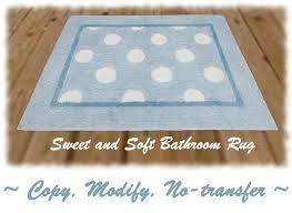 second marketplace light blue bathroom kitchen rug