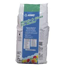 shop mapei mosaic and glass tile 10 lb white powder thinset mortar