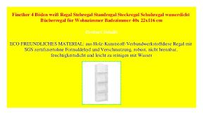 finether 4 böden weiß regal stehregal standregal steckregal