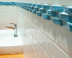 border tile blue glass eclectic bathroom toronto bathroom tub