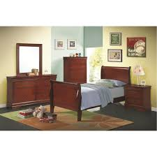 coaster furniture 200431t louis philippe twin sleigh panel bed in