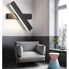 schwarze led deckenleuchte moderne innen wandle 360 drehbare wandleuchte für flurtreppen wohnzimmer nachtbett hotel warmweiß 12w