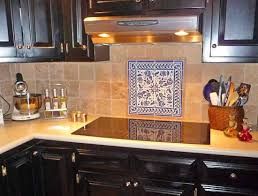 Blue And White Floral Tile Design