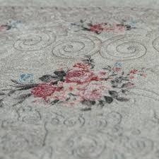 badezimmer teppich set shabby chic look waschbar gemütlich