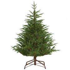 Downswept Alpine Christmas Tree by National Tree Company 4 1 2 Ft Feel Real Fraser Grande Hinged