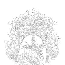 Time Garden Coloring Book Lace Adult Colouring Secret