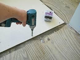 Tiling A Bathroom Floor On Plywood by Installing Hardibacker Tile Backerboard For Bath Floor Tiles