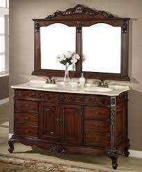 incredible cottage bathroom vanity set including antique sideboard