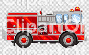 100 Clipart Fire Truck Royalty Free RF Illustration Of A Pixelated Engine By