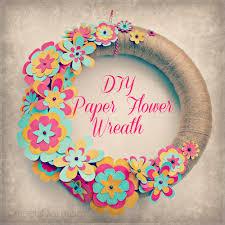 Easy DIY Paper Flower Wreath