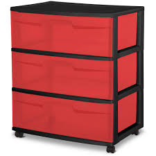 Walmart Sterilite Utility Cabinet by Sterilite 3 Drawer Cart Pink Chest Of Drawers