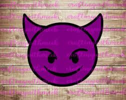 Devil Emoji Pumpkin Carving by Devil Emoji Etsy