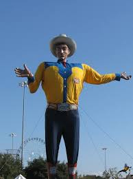 Big Tex Gesticulating To Fair Patrons In The Last Years Of His Life Photo Courtesy Ann Serrano