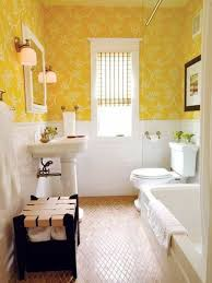 Guest Bathroom Ideas Yellow Floral Wallpaper And Wainscoting And ... Neutral Graphic Wallpaper Takes This Small Bathroom From Basic To Bold Removable Wallpaper Patterns For Small Bathrooms The Alluring Bathroom Bespoke Best Wall Covering For Ideas Waterproof Walllpaper Paper Glamorous With 3d Porcelain Tile Ideas 342 Full Hd Wide 40 Design Top Designer Fascating Grey Virtual Remodel Dream 17 Stylish Victorian Plumbing Black And White Hawk Haven