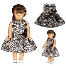 Leopardprint Doll Dress Handmade Clothes For 18inch American Girl