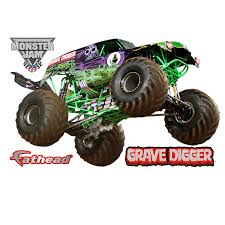 100 Grave Digger Monster Truck Videos XL Officially Licensed Jam Removable Wall