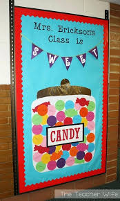 Poster Board Decoration Ideas Candy Themed Bulletin The New Students See This On