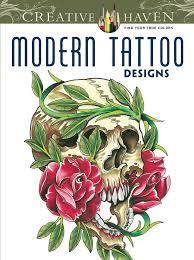 Creative Haven Modern Tattoo Designs Coloring Book English Antistress For Adults