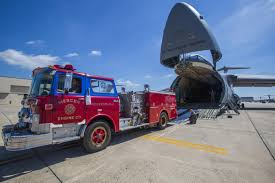 100 Blue Fire Trucks Airmen Load Airlift Fire Truck 3700 Miles To Nicaragua 18th Air