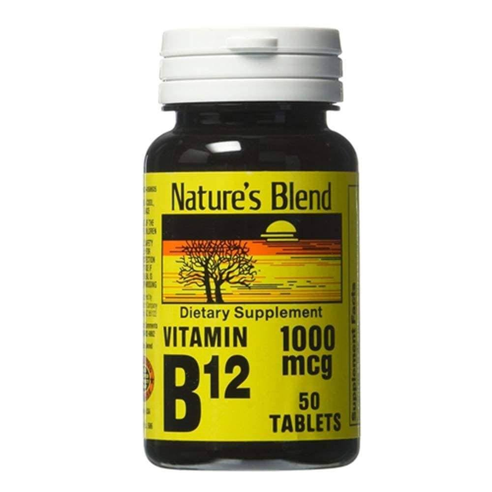 Nature's Blend Vitamin B12 - 1000mcg, 50 ct