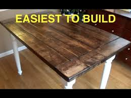 Brilliant DIY Rustic Kitchen Table How To Build A Farmhouse Complete And Easy Plan
