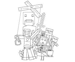 Coloring Page Minecraft Video Games 16