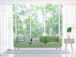 moderne weiße wohnzimmer mit grünen sofa 3dbild rendern stockfoto und mehr bilder architektur