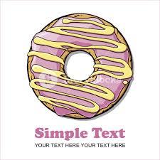 Card With Cartoon Donut Illustration