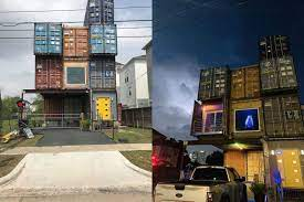 104 Shipping Container Homes In Texas Man Builds Three Story House Mcgowen St