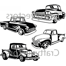 Hot Rod Trucks Svg Vector Files | SOIDERGI