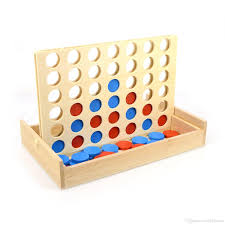 Connect 4 Wooden Games In A Row Four Game Line Up Classic Family Toy Board For Kids And Fun 100 Card