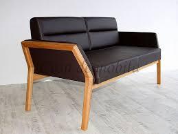 sitzbank 169x84x75cm massivholz echtleder polsterrung casade mobila