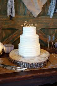 Simple Rustic Wedding Cake