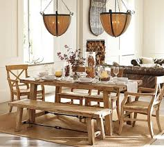 Aarons Dining Room Sets by Benchwright Table U0026 Aaron Chair Set Wax Pine Finish Potterybarn