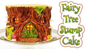 FAIRY TREE STUMP CAKE LadyBakington Easy How To DIY Baking Tutorial