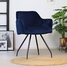 esszimmerstuhl samt nelly mit armlehne blau kauf auf rechnung